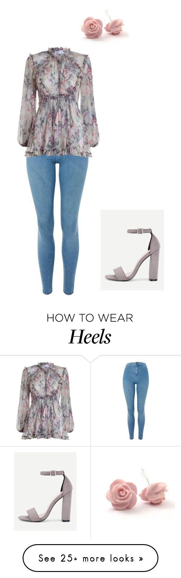 """""""Sans titre #1107"""" by stalialightwood on Polyvore featuring Topshop and Zimmermann"""