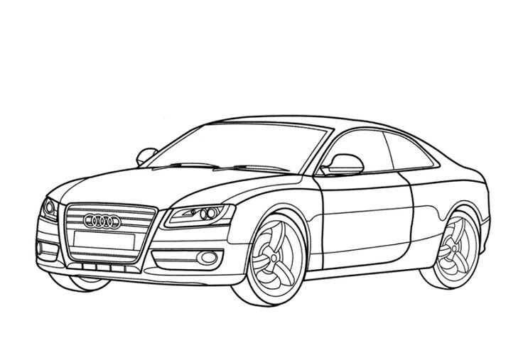 Ausmalbilder Audi | Desenhos, Desenhos para colorir, Colorir