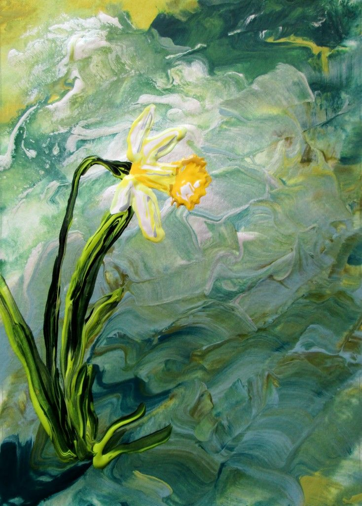 Beautiful painting in support of Daffodil Month.