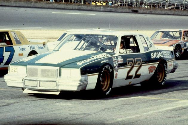 "Harry Gant in the Skoal Bandit #22. Stuntman Hal Needham and actor Burt Reynolds, both of ""Smokey and the Bandit"" and ""Stroker Ace"" fame were the owners of the car."