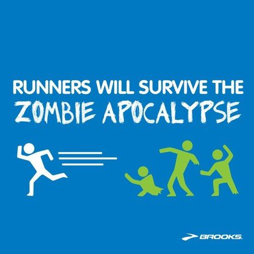 When people ask me how I've lost weight...I'll tell them I am training for the Zombie Apocalypse!!