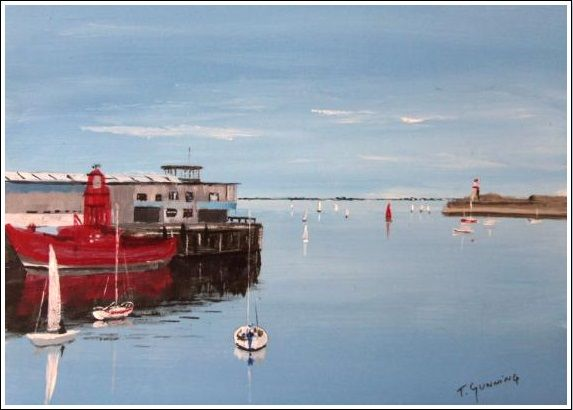 Lightship berthed at Carlisle Pier, Dun Laoghaire. http://www.marketdirect.ie/Lightship-Dun-Laoghaire