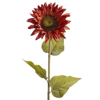 Faux Sunflower Stem - Orange