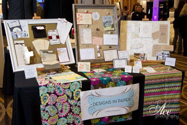 designs in paper, enchanted brides, nashville bridal show, stationery