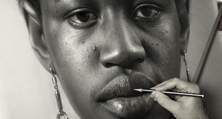 dirk dzimirsky graphite portrait work in progess