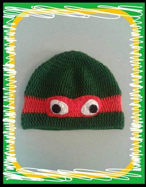 Crochet red ninja turtle!  https://m.facebook.com/PinelopisHandmade/