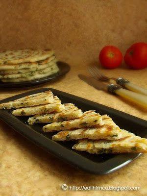 SCALLION PANCAKES (CHINA)- Reteta Laura Adamache Aceste pancakes sarate, facute cu codite de ceapa verde sunt originare din China si spre deosebire de pancakes-urile americane aceste