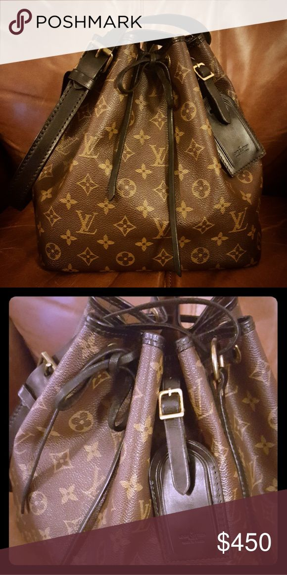 Louis vuitton custom petite noe 100% authentic. All vachetta leather has been Beautifully dyed and sealed. Comes with matching dyed and sealed luggage tag. More pictures will be posted tonight! Ask any questions! Louis Vuitton Bags