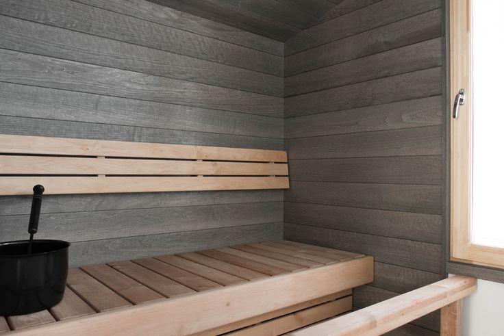 Kuultavan harmaa Haapa-saunapaneeli on osa tyylikästä saunasisustamista. Puun syiden kuultaessa läpi tunnelma saunassa on taattu! Klikkaa kuvaa, niin näet tarkemmat tiedot.