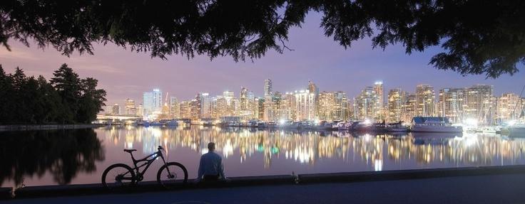Vancouver, Coast & Mountains - Vancouver, British Columbia - at vcmbc.com #Vancouver #Coast #Night #Lights