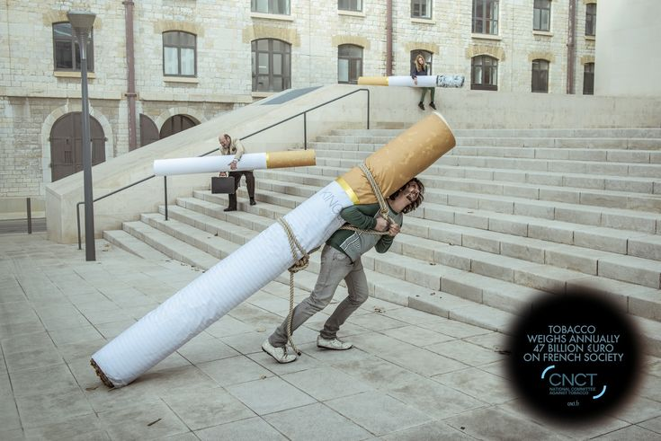 CNCT national commitee against tobacco: The weight of tobacco, 1 | Ads of the World™
