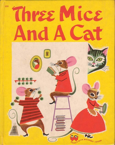 Three Mice And A Cat by Jean Horton Berg, illustrated by Art Seiden, 1950.