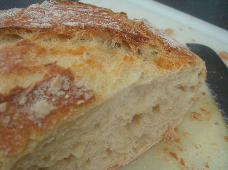 Receta de hogaza de pan casero sin amasar y sin trabajo
