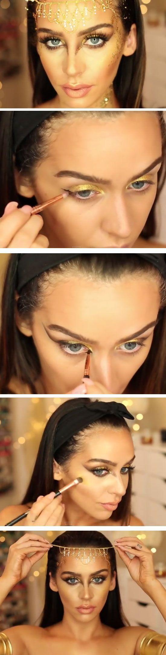 Goldene Göttin Makeup Tutorial