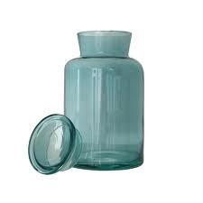 Glazen pot met deksel