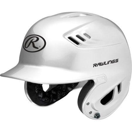 Rawlings R16 Series Metallic Junior Baseball Batting Helmet White Walmart Com Batting Helmet Indian Motorcycle Helmet
