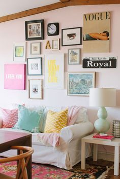 Even if you can't paint, you can match your throw pillows to your art.  Slipcovers are a GREAT way to disguise a curb-side special, and rugs are a great way to hide (and protect) that expensive (to you!) rental carpet that ravels if you look at it wrong.