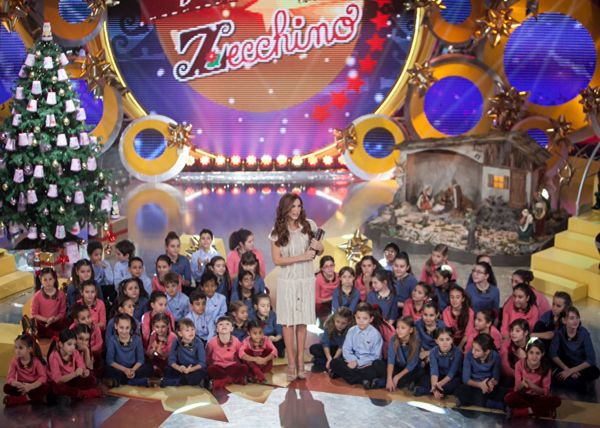 """The """"Piccolo Coro dell'Antoniano"""" choir wears MiMiSol on the occasion of """"Natale in casa Zecchino"""", the  Christmas' Eve special show. #mimisol #clothing #fashion #kidswear #childrenswear #children #kids #zecchinodoro #rai1 #antoniano #christmas"""