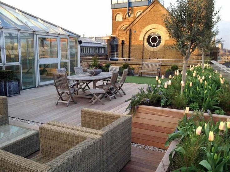 63 best Jardin - Citadin images on Pinterest Gardening, Backyard - toiture terrasse bois accessible