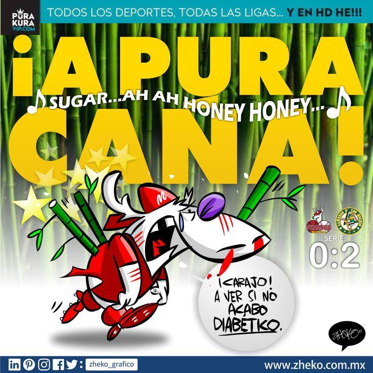 """#ElCartonDeldia #ZhekoCaricaturista #Caricaturas #CaricaturasDeBeisbol #CaricaturasDeportivas """"A  PURA CAÑA"""" Venados de Mazatlán con el riesgo de quedar diabéticos por tanta """"caña""""  +Cañeros de Los Mochis +Venados de Mazatlán +Liga Mexicana del Pacífico +Puro Beisbol +Liga Mexicana de Beisbol"""