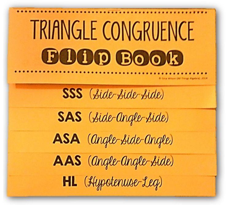 Triangle Congruence Flip Book ($)
