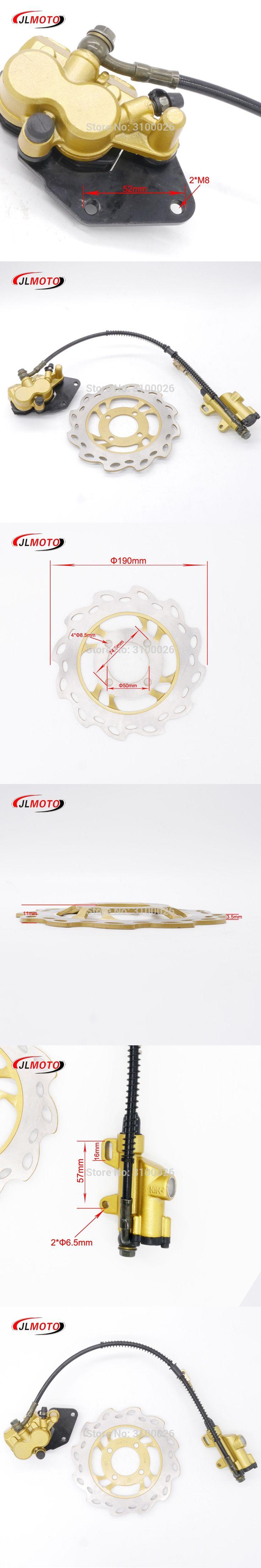1Set Rear Foot Hydraulic Disc Brake /50cm Brake line/190mm Disc Fit For 50cc 110cc 150cc dirt bike Pit Bike Scooter ATV Parts