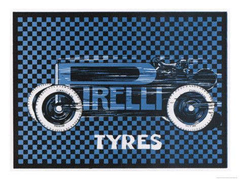 Pirelli Tyres, for Racing Cars Giclee Print at AllPosters.com
