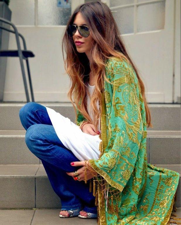 Бохо-кимоно из бархата: роскошь, роскошь.