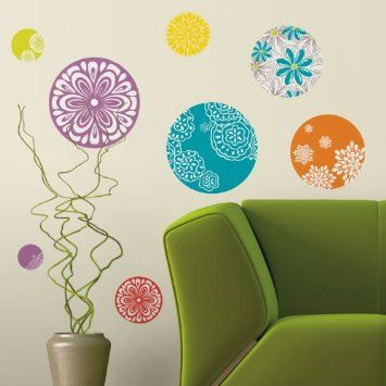 RoomMates Repositionable Wall Stickers - Patterned Dots: Amazon.co.uk: DIY & Tools