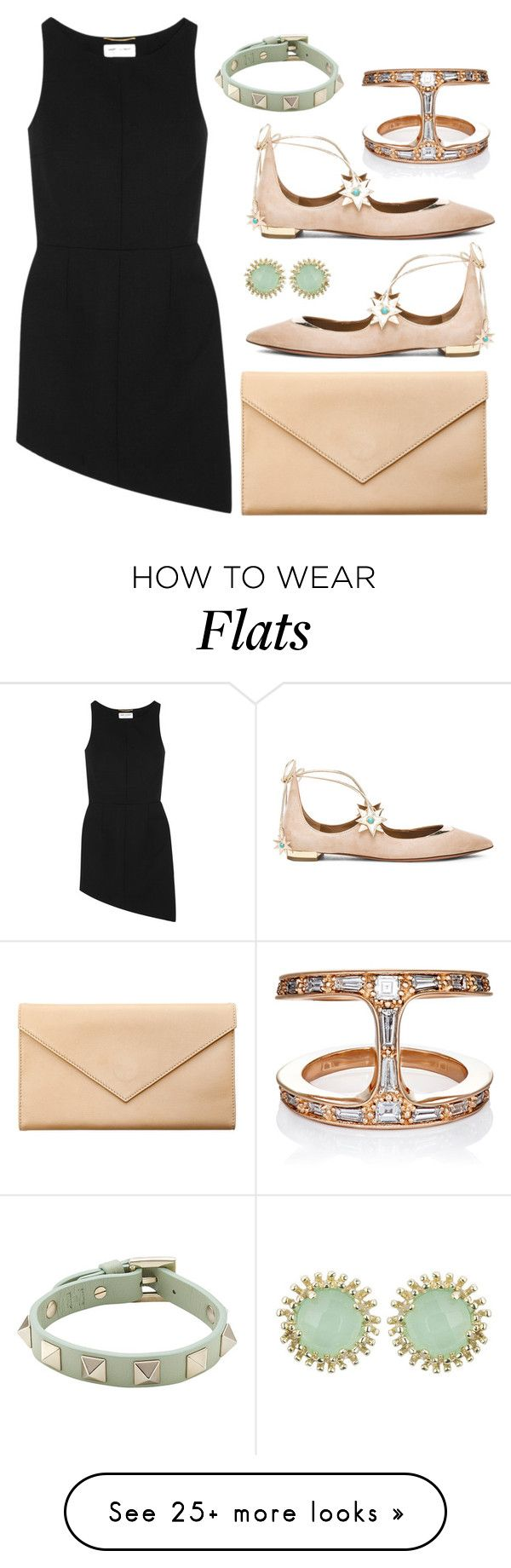 """""""LBD"""" by cherieaustin on Polyvore featuring Yves Saint Laurent, Aquazzura, Carré Royal, Hoorsenbuhs, Valentino and Kendra Scott"""