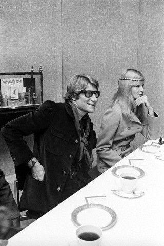1968 - Yves Saint Laurent & Betty Catroux