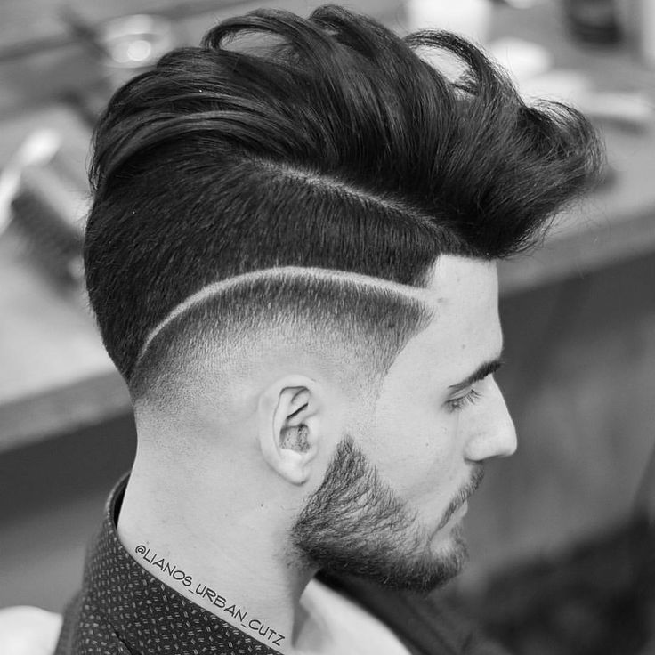 Cute Guy Haircut   Drop Fade And Surgical Part With Long Combed Over Hair