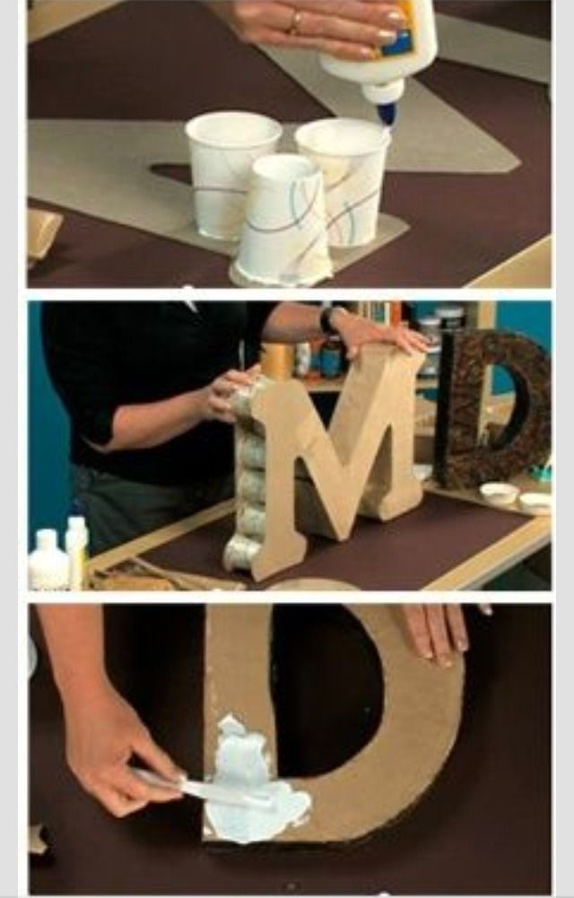 DIY 3-D letter and number pictorial