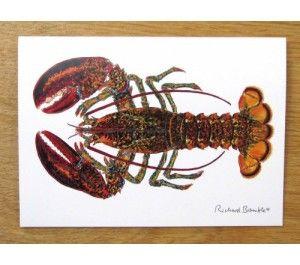 North American Lobster Greetings Card