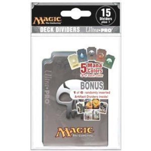 Ultra Pro The Magic the Gathering (MTG) Card Game - MANA / Sleeve / Deck Dividers - Mana Design (16 Dividers/Bag) by Ultra Pro. $11.99. We also have the Deck Boxes (SOLD SEPARATELY). 4-Color printed Dividers - 16 dividers in each polybag. Magic Packs, Boxes & Other Supplies Sold Separately. PLUS a BONUS! (1) FREE Artifact art divider!. 3 of each Mana color in each pack. Ultra Pro The Magic the Gathering (MTG) Card / Sleeve / Deck Dividers - (16 Dividers/Bag) Mana Design