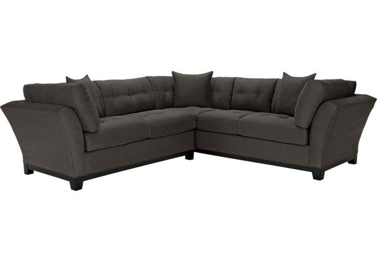 Cindy Crawford Home Metropolis Slate 2 Pc Sectional-Living Room Sets (Gray)