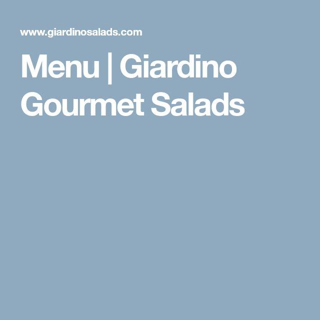 Menu | Giardino Gourmet Salads