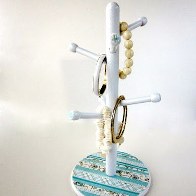 Turn an old cupholder into a jewelry stand!