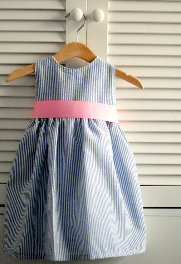 DIY Seersucker Easter Dress by Pretty Cool Life