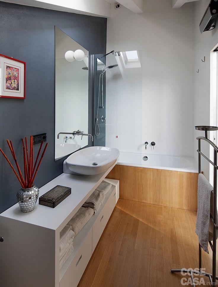 Pi di 25 fantastiche idee su rivestimento per vasca da bagno su pinterest portatubo da - Vasca da bagno acciaio porcellanato ...