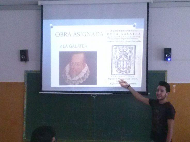 Exposiciones en el aula de alumnos de 1º Bchto. A sobre la obra de Miguel de Cervantes. Propuesta de la profesora Yolanda Jiménez.