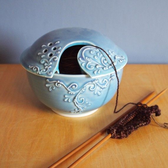 Every good knitter needs a yarn bowl with scrolls in Twilight Sky by jampdx on Etsy.  I have one in Lavender and it's beautiful!  One day, if I am blessed to be someone's Oma, I will give it to my granddaughter.