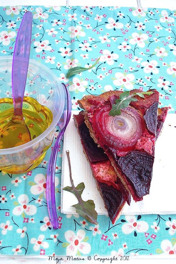 Beetroot & Red onion Tarte tatin