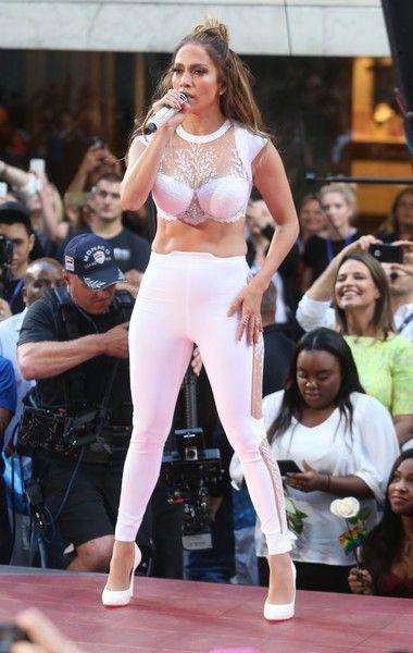 """Jennifer Lopez Photos - Manuel Miranda and Jennifer Lopez perform on NBC's 'Today' at Rockefeller Plaza on July 11, 2016 in New York City. - Jennifer Lopez & Lin-Manuel Miranda Perform On NBC's """"Today"""""""