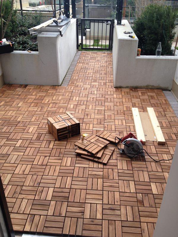 DIY Outdoor Patio Decking with Ikea Runneen (formerly called platta) - $537