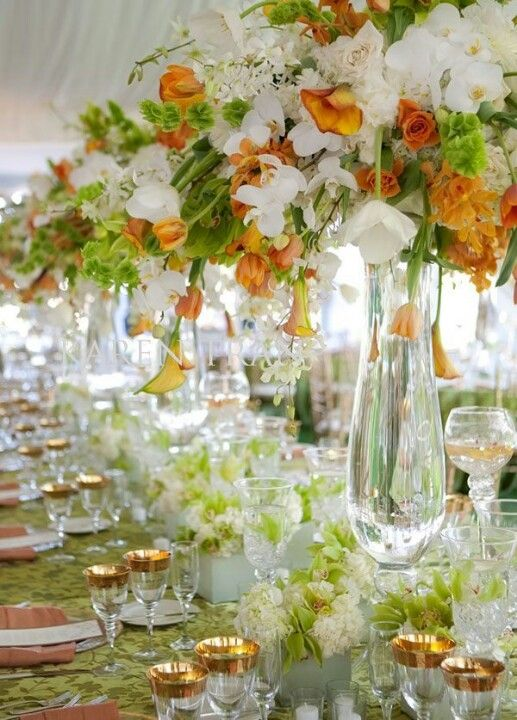 So Pretty For A Spring Wedding Orange Green And Gold
