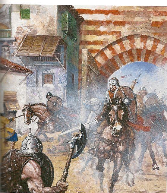 "MEDIEVAL SPAIN (EL CID) by Justo Jimeno. SCENES FROM THE LIFE OF CID CAMPEADOR. Inspired by the ""Cantar del Mio Cid"""