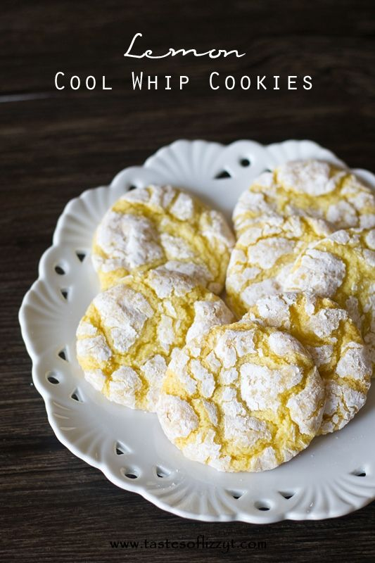Cool Whip Cookies - can use any cake mix flavor.  Brian requested these so I'll be trying it this weekend.