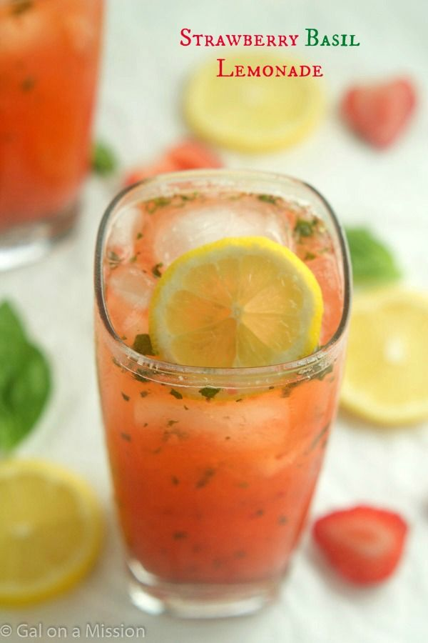 Refreshing strawberry basil lemonade that is so simple to make and tastes amazing! You'll be coming back for seconds! Or thirds.