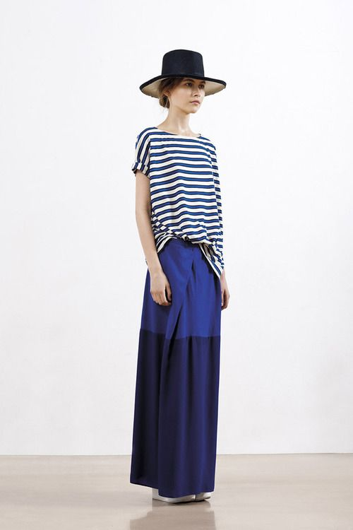 .: Clothing Altered, Summer 2012, Fashion Crafts, Diy Fashion, S S 2012, Spring Summer, Style Pinboard, Blue Stripes, Maxi Skirts